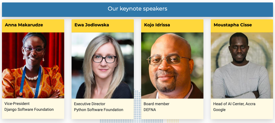 PyCon Africa 2019 Keynote Speakers